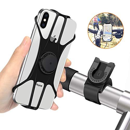MOSUO Supporto Bici Smartphone, Universale Porta Cellulare Bicicletta Moto 360° Rotabile Regolabile Supporto per Manubrio MTB GPS e Altri Dispositivi Elettronici 4.5'-6.5'