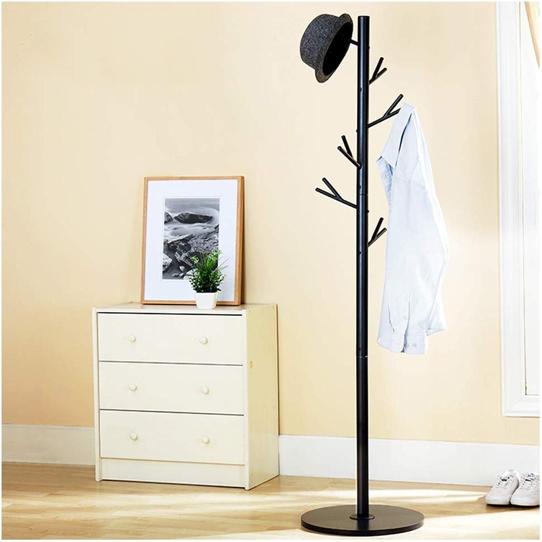 Standing Coat Racks Modern Simple Coat Rack Thick Tube Metal Clothes Rack Tree Simple Hanger Bedroom Living Room Floor Hanger -0223
