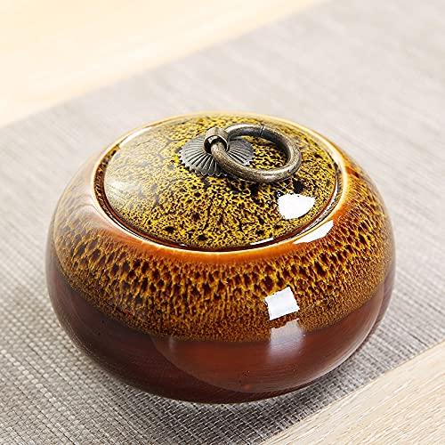 Caddy de té Caja De Lata De Té De Cerámica Botellas De Almacenamiento Kithen Frasco De Almacenamiento De Alimentos Recipiente Hermético A Prueba