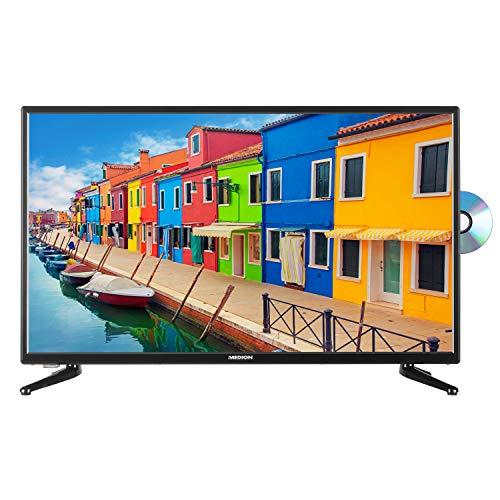 MEDION E13200 80 cm (31,5 Zoll) HD Fernseher (HD Triple Tuner, DVB-T2 HD, integrierter DVD-Player, CI+, Mediaplayer, 3 x HDMI, SCART, VGA, USB)