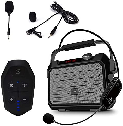Wireless Portable PA System with Wireless Headset Lapel Microphone Transmitter 30W 3600mah Voice product image