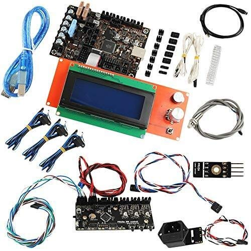 WEI-LUONG Impresora 3D Accesorios Prusa I3 Mk3 Placa Base + Pantalla + Kit de detección Cut + Junta de Control de MMU2 Computadora