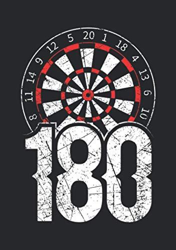Notizbuch A5 dotted, gepunktet, punktiert mit Softcover Design: 180 Punkte Tripel 20 Dart Dartspieler Geschenk Dartscheibe: 120 dotted (Punktgitter) DIN A5 Seiten