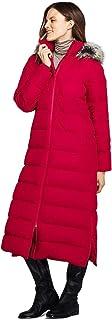 Lands' End Women's Tall Winter Long Down Coat with Faux Fur Hood Faux Fur