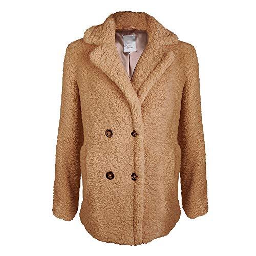 Soyaconcept 16888 Damen Jacke aus Polyester Eingriffstasche V-Ausschnitt Langarm, Groesse 42, beige