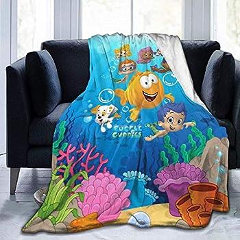 Kids Boys Girls Bu-bble Gu-ppies Blanket Lightweight Soft Warm Cozy Throw Blanket Home Decor For Couchbed Sofa All Season,50x40inch