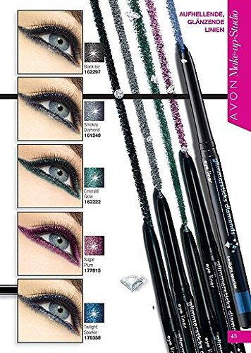 AVON Glimmerstick Diamonds Augenkonturenstift Kajalstift Black Ice
