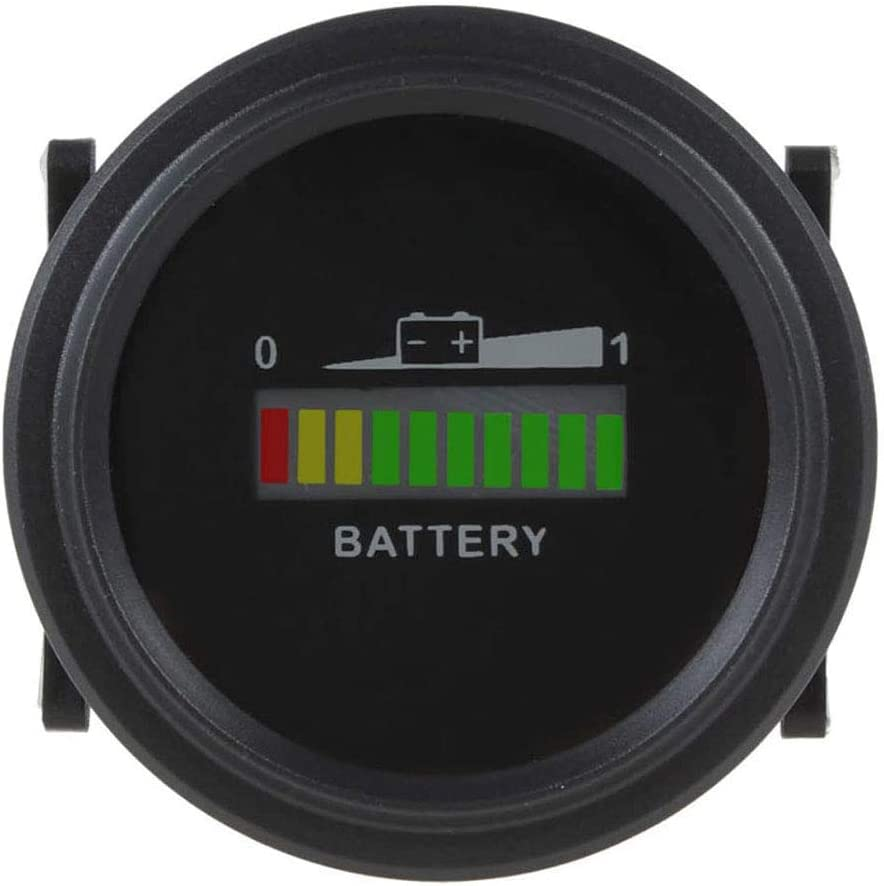 COUYY Tri-Color LED Light Battery Indicator Charge Status Meter Fuel Gauge Automatic Battery Capacity Tester