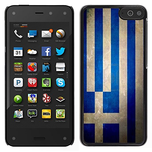 Graphic4You Bandera Griega Grecia Vintage Grunge Diseño Carcasa Funda Rigida para Amazon Fire Phone