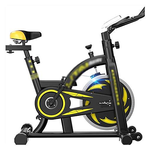 Draaiende fiets, cardio-fitnessfiets voor binnen met multifunctioneel elektronisch horloge en riembeschermhoes Verstelbare voetbedekking en armleuning hometrainer - met vliegwiel