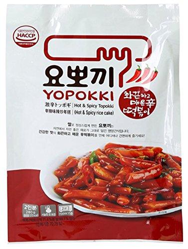 Yopokki Vorbereitete Koreanisch Reis Kuchen Instant Paket neue sehr würzig (1 Packung, sehr heiß und sehr würzig)