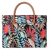 Kraptick Original Flower Pattern Waterproof Laptop Handbag Messenger Bag Case Sleeve for 14
