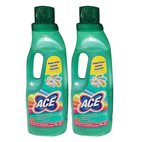 Ace Fleckenentferner mit Farbschutz, Kraftvoll gegen Flecken, 2er Pack (2 x 1 Liter)