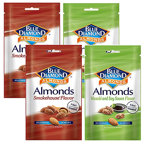 ブルーダイヤモンド わさび醤油味と燻製風味 アーモンド 1袋70g 2種類 4袋セット カルフォルニアナッツ おつまみ