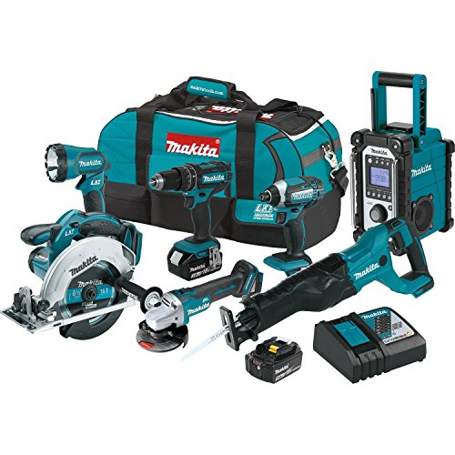 Makita XT704 18V LXT Lithium-Ion Cordless 7-PC. Combo Kit (3.0Ah)