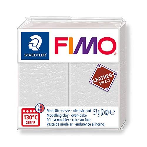 Staedtler 8010-029 Fimo Leather-Effect Pasta modellabile per modellare oggetti creativi in Finta Pelle, effetto Finta Pelle e al tatto, colore: Avorio