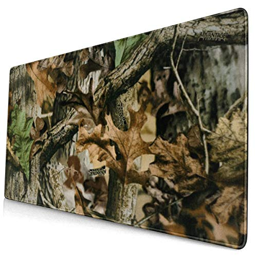 Extended Gaming Mouse Pad with Stitched Edges-Free Tree Camo Large XXL Professional Mousepad (29.5x15.7In) Waterproof Desk Pad Keyboard Mat with Non-Slip Base for Work & Gaming, Office & Home