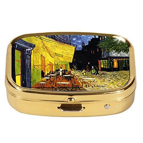 Fridolin Pillendöschen Van Gogh-Café de Nuit aus Metall, bunt, 5.1x3.6x1.8 cm