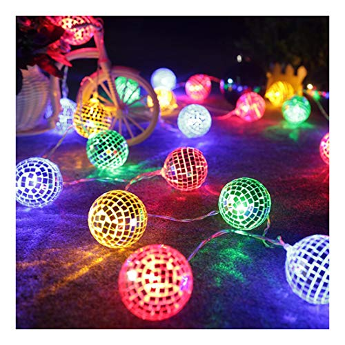 AceList 20 LED Disco Ball Mirror LED Party Light String Christmas Lanterns for Holiday Wall Window Tree Decorations Indoor Outdoor Patio Party Yard Garden Kids Bedroom Living Dorm (Multicolor)