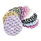 Frcolor 5pcs handgemachte Haarnetz elastische...
