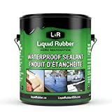 Liquid Rubber Waterproof Sealant, Black, 1 Gallon