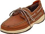 Sperry Top-Sider Lanyard 2-Eye Boat Shoe Men 9.5 Dark Tan/Orange
