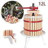 Hengda 12L Torchio per vinacce Pressa per Frutta UVA Mele per Succhi Vino Sidro Mosto Tritafrutta per Pressatura di Frutta