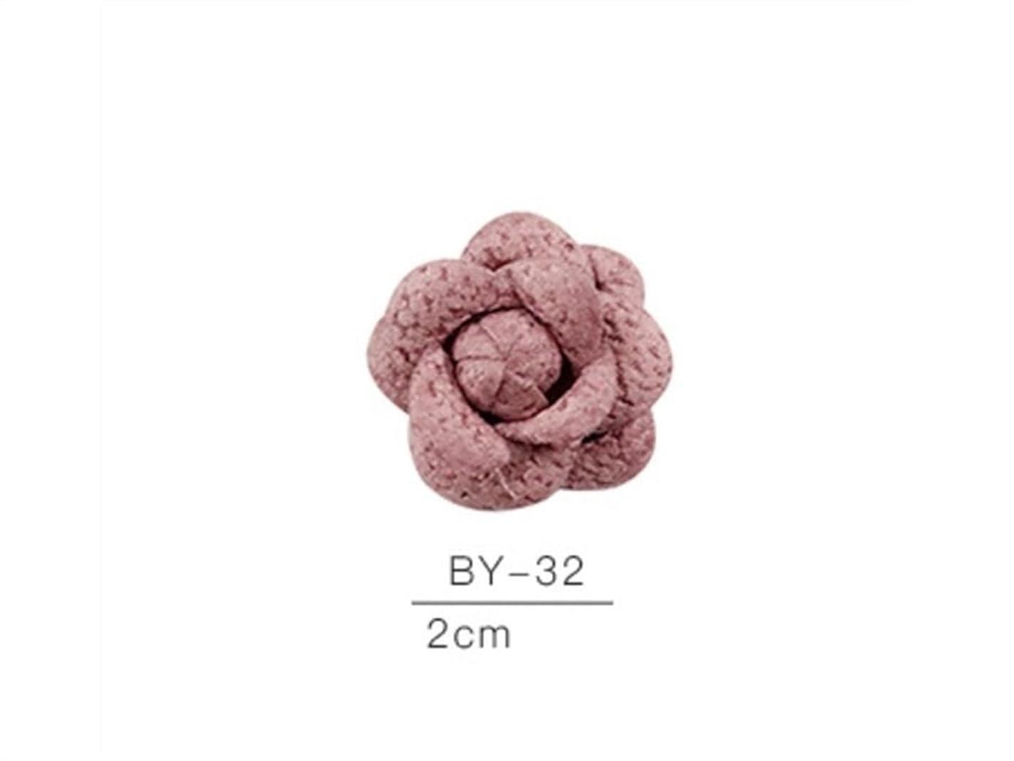 ケント衝突プロテスタントOsize カラフルネイルアート樹脂布カメリアネイルジュエリーファブリックネイルアートデコレーションネイルステッカー(ピンク)