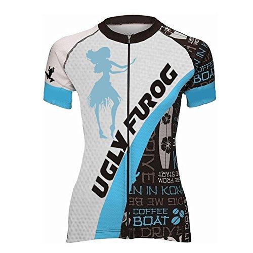 UGLY FROG ZO05 Rennrad MTB New Damen schließen Hülsen Zyklus Jersey Kurzarm Fahrradtrikot Fahrrad Hemd Fahrrad Top Outdoor Sports Radfahren Frauen Trikot