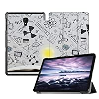 MAITTAO Galaxy Tab A 10.5 2018 Model SM-T590/T595/T597, Slim Folio Shell Case Stand Cover with Auto Wake/Sleep for Samsung Galaxy Tab A 10.5 Inch Tablet Sleeve Bag 2 in 1 Bundle, Flowers & Leafs 11