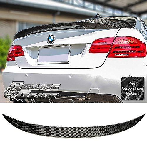 Rolling Gears E92 Carbon Fiber Trunk Spoiler for E92 and M3 2-Door Coupe 2007-2013, Performance Style