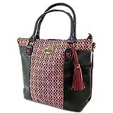 Lili Petrol [P2647] - Kreative Tasche 'Lili Petrol' schwarz rosa Mehrfarbig - 42.5x33x14 cm.