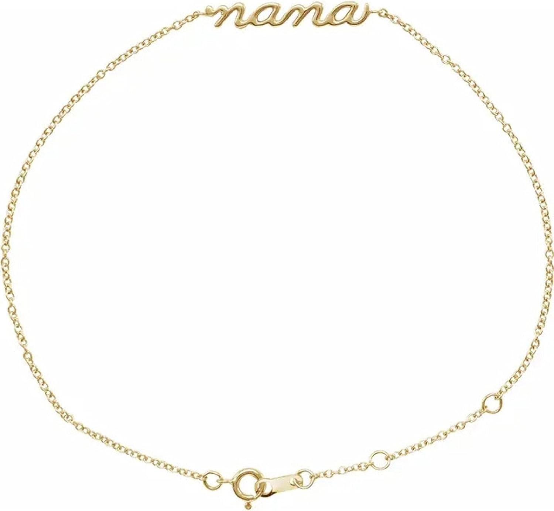 Max 56% OFF 14K High quality new Yellow Lowercase Bracelet Script Nana