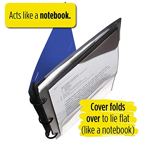 Five Star Flex Hybrid NoteBinder, 1-1/2 Inch Binder with Tabs, Notebook and 3 Ring Binder All-in-One, Blue (72405) Photo #8