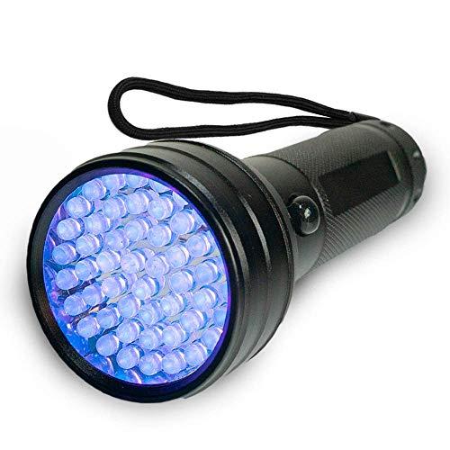 LIMNEA BestCare - Linterna UV de luz negra con 51 LED | Detector de orina para mascotas para manchas secas de perros, gatos y roedores en alfombras, cortinas, muebles