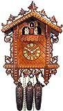 August Schwer Alemán Réplica de reloj antigua 8 días de movimiento de 43 43 cm - Auténtico reloj de cuco del bosque negro