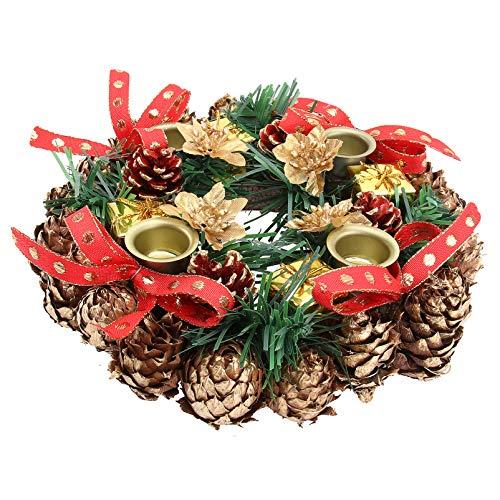 VALICLUD Navidad Corona de Adviento Calendario de Adviento Temporada Candelero Centro de Mesa Decoración Tradiciones Navideñas Corona de Adviento Regalos de Adviento