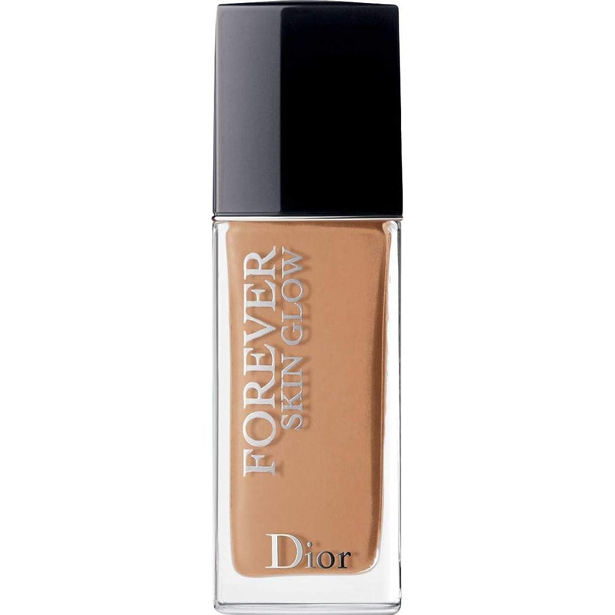 悪の圧縮する組[Dior ] ディオール永遠肌の輝き肌思いやりの基礎Spf35 30ミリリットルの4.5ワット - 暖かい(肌の輝き) - DIOR Forever Skin Glow Skin-Caring Foundation SPF35 30ml 4.5W - Warm (Skin Glow) [並行輸入品]