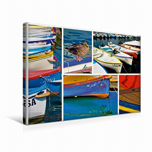 Premium textiel canvas 45 cm x 30 cm dwars, Zoek Gardasee - Impressies uit de vele poorten rondom de zee | Wandafbeelding, afbeelding op flair aan Lago di Garda (CALVENDO Plaats);CALVENDO Orte