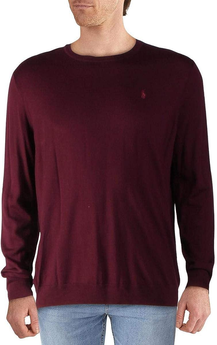 Polo Ralph Lauren Big & Tall Big & Tall Long Sleeve Merino Wool Crew Neck Sweater