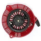 Dpatleten Arrancador de Retroceso para Honda GCV135 GCV160 EN2000 HRU19 Arrancador de Motor Rojo y Negro
