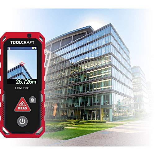 TOOLCRAFT LDM X100 Laser-Entfernungsmesser Bluetooth, Koffer, Dokumentations-App, Touchscreen Messbereich (max.) 100 m