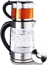 Glazen roestvrij stalen waterkoker, waterketel, theekoker, theeketel, caymatica, 1,7 liter, met ledverlichting, warmhoudfu...