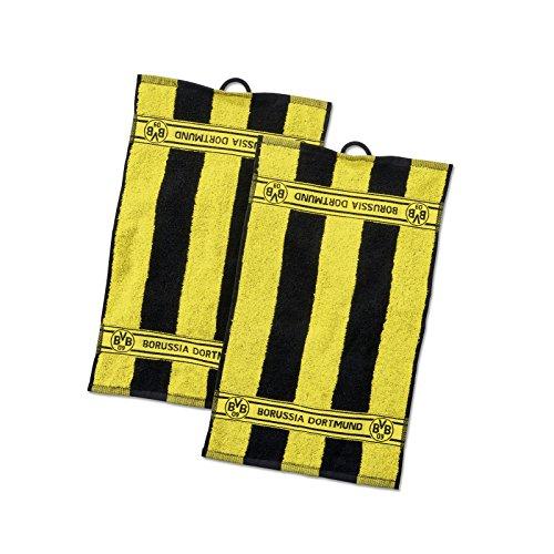 Borussia Dortmund BVB-Gästehandtücher mit Blockstreifen (2 Stück, 50x30cm)