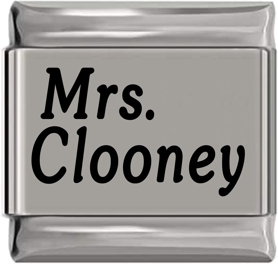 Mrs Spasm price Clooney Laser Max 78% OFF Italian Charm Engraved
