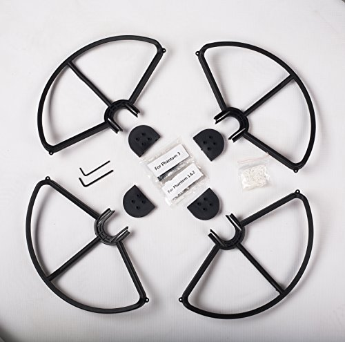 SummitLink Snap On/Off Prop Guards 4X Black for DJI Phantom 1 2 3 Quick Connect Tool Free