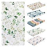 Rehomy Cambiador de bebé de rizo – Funda para cambiador de pañales, suave, gruesa, transpirable, hojas verdes, 32 x 16 x 4 cm