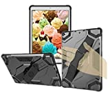 Handle Hand Strap and Kickstand Latest iPad Protective Case Shockproof Cover For iPad Air 1st 2013 Release models A1747 1475 A1476 MD785LL/A MD785LL/A MD876LL/A MD786LL/A MD787LL/A MD787LL/A (Black)
