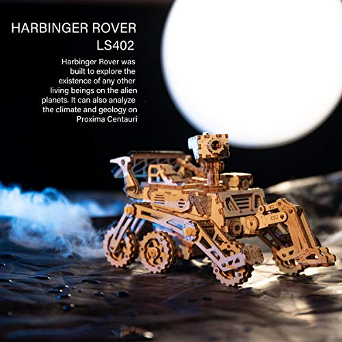 MARS ROVER 3D Holzbausatz mit Solarantrieb - LS402 von ROKR