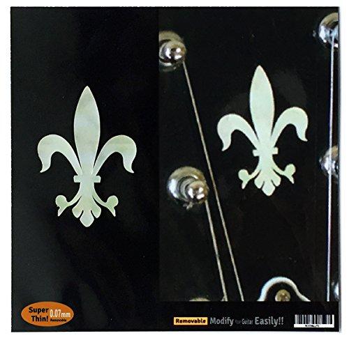 Inlay Aufkleber für Gitarre Kopfplatte – Fleur de Lys (2 Stück)